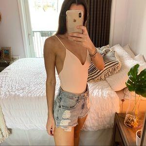 Light Pink Low Back Bodysuit